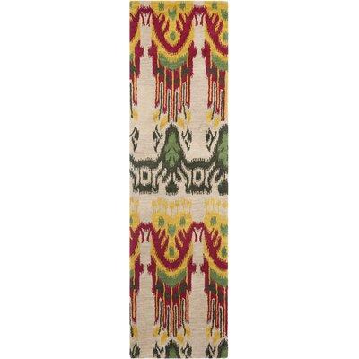 Ikat Beige Area Rug Rug Size: Runner 23 x 10