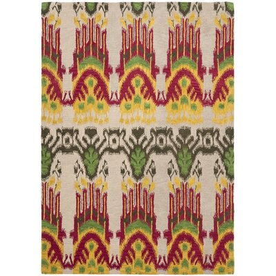 Ikat Beige Area Rug Rug Size: Rectangle 6 x 9