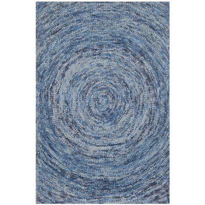 Ikat Dark Blue Area Rug