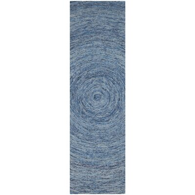 Ikat Dark Blue Area Rug Rug Size: Runner 23 x 12