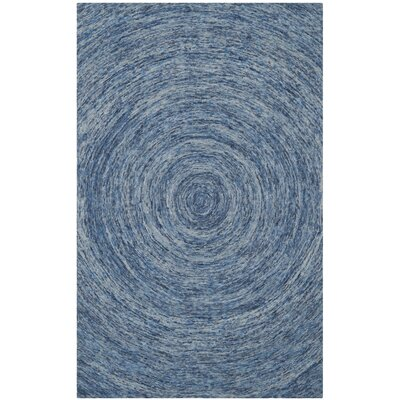 Ikat Dark Blue Area Rug Rug Size: 4' x 6'