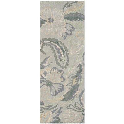 Jardin Light Grey / Multi Floral Rug Rug Size: Runner 23 x 6