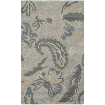 Jardin Light Grey / Multi Floral Rug Rug Size: 5 x 8