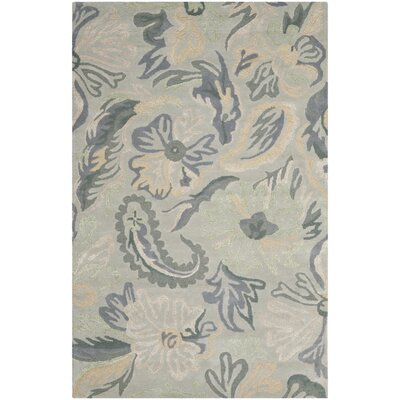 Jardin Light Grey / Multi Floral Rug Rug Size: 8 x 10
