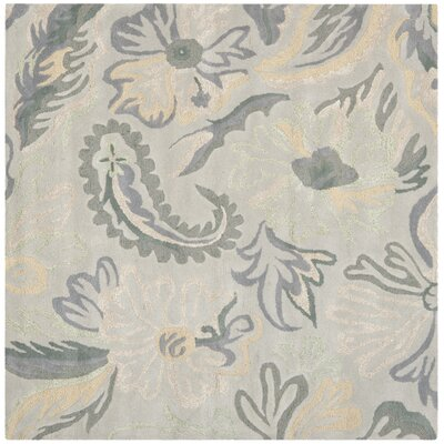Jardin Light Grey / Multi Floral Rug Rug Size: Square 6