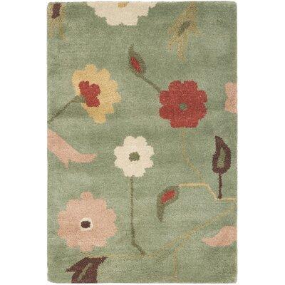 Jardin Sage / Multi Floral Rug Rug Size: 2 x 3