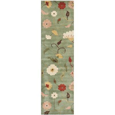 Jardin Sage / Multi Floral Rug Rug Size: Runner 23 x 8