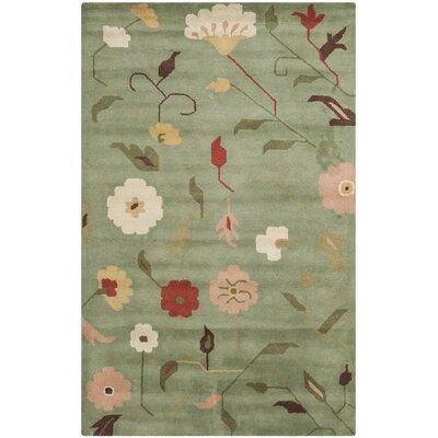Jardin Sage / Multi Floral Rug Rug Size: 5 x 8