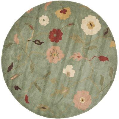 Jardin Sage / Multi Floral Rug Rug Size: Round 6