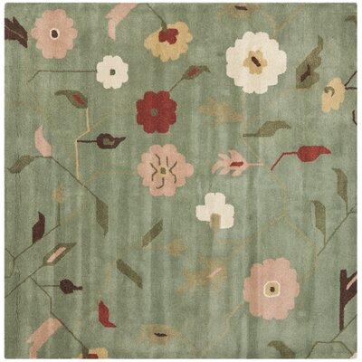 Jardin Sage / Multi Floral Rug Rug Size: Square 6