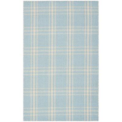 Kilim Light Blue / Beige Tribal Rug Rug Size: Rectangle 26 x 4