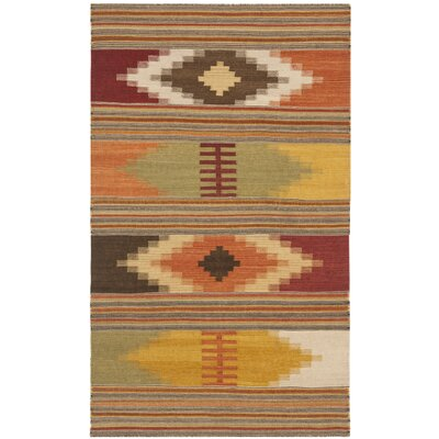 Vacaville Hand Woven Wool Red/Orange Area Rug Rug Size: Rectangle 3 x 5