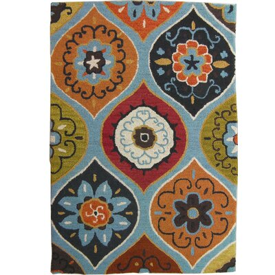 Roslyn Hand Tufted Wool Blue Area Rug Rug Size: 3 x 5