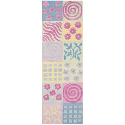 Claro Tufted Pink Area Rug Rug Size: Runner 23 x 7