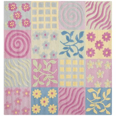 Claro Tufted Pink Area Rug Rug Size: Square 5