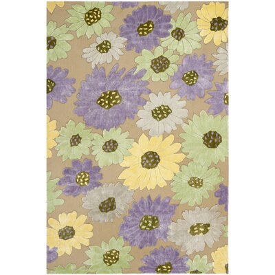 Wilton Taupe / Lilac Area Rug Rug Size: Rectangle 4 x 6
