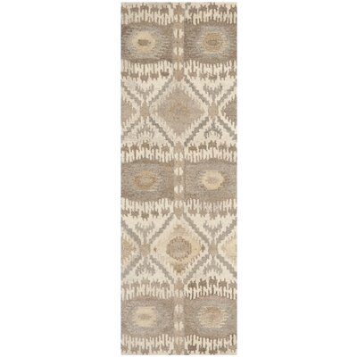 Roberts Hand-Tufted Beige/Gray Area Rug Rug Size: Runner 23 x 11