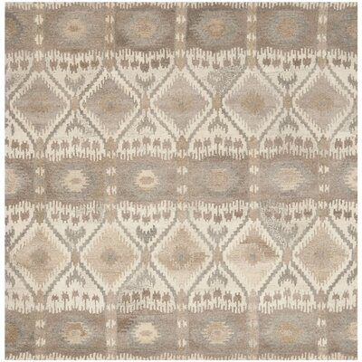 Wyndham Brown Area Rug Rug Size: Square 7