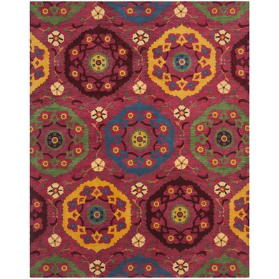Wyndham Red Area Rug Rug Size: 2'3