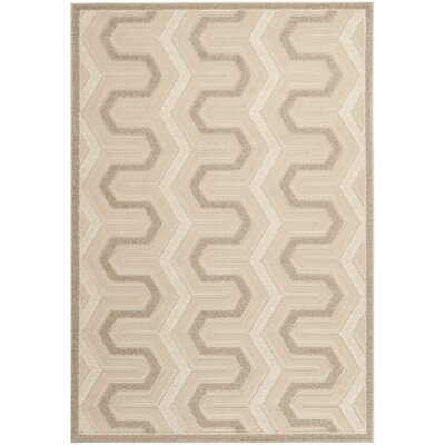 York Cream Area Rug Rug Size: Rectangle 53 x 77