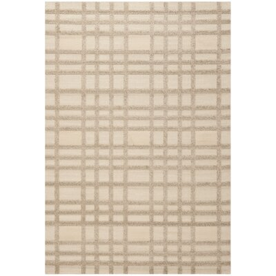 York Beige Area Rug Rug Size: Rectangle 53 x 77