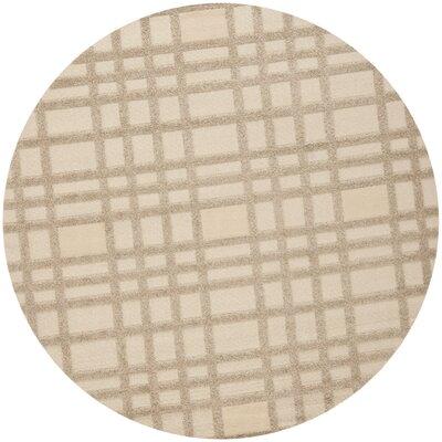 York Beige Area Rug Rug Size: Round 6 x 6