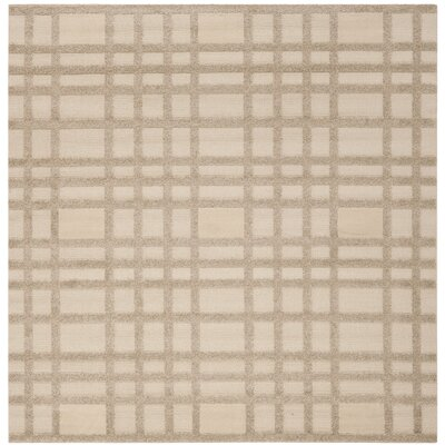 York Beige Area Rug Rug Size: Square 6 x 6