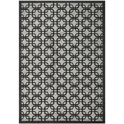 York Gray/ Black Area Rug Rug Size: 8 x 10