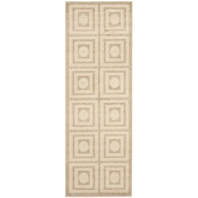 York Cream/Beige Area Rug Rug Size: Runner 24 x 67