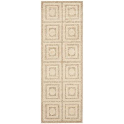York Cream/Beige Area Rug Rug Size: Runner 24 x 67