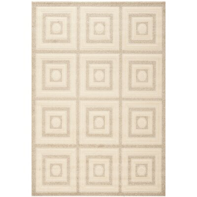 York Cream/Beige Area Rug Rug Size: 53 x 77