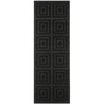York Black Area Rug Rug Size: Runner 24 x 67
