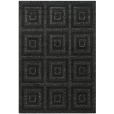 York Black Area Rug Rug Size: 53 x 77