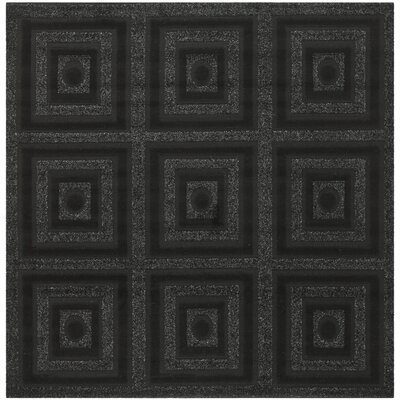 York Black Area Rug Rug Size: Square 6 x 6