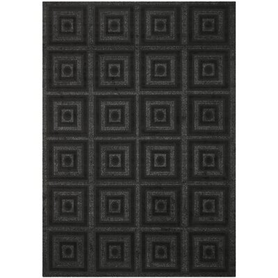 York Black Area Rug Rug Size: Rectangle 8 x 112