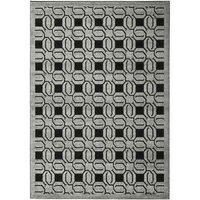 York Grey / Black Rug Rug Size: Rectangle 8 x 112