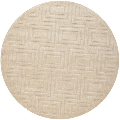 York Brown/Tan Area Rug Rug Size: Round 6 x 6