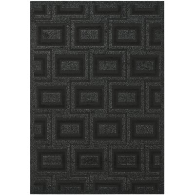 York Charcoal Area Rug Rug Size: 53 x 77