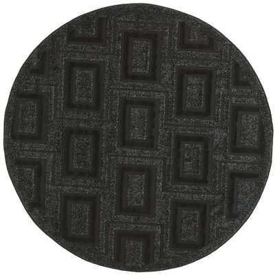 York Charcoal Area Rug Rug Size: Round 6 x 6