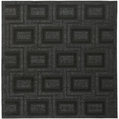 York Charcoal Area Rug Rug Size: Square 6 x 6