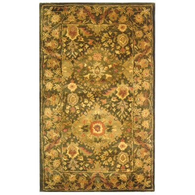 Antiquity Olive Area Rug Rug Size: 3' x 5'