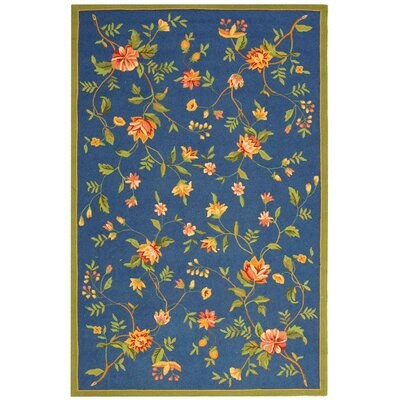 Kinchen Blue/Green Area Rug Rug Size: Rectangle 89 x 119