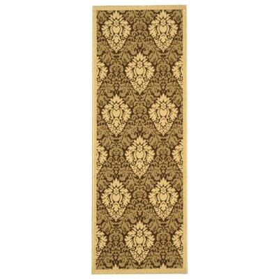 Courtyard Brown/Natural Outdoor Rug Rug Size: Runner 2'4