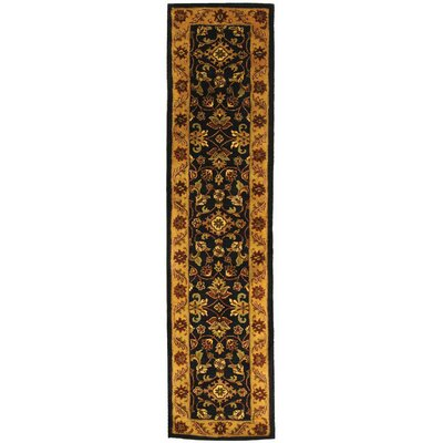 Golden Jaipur Black/Gold Area Rug Rug Size: Runner 23 x 8
