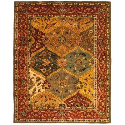 "Safavieh Heritage Red Area Rug - Rug Size: 7'6"" x 9'6"""