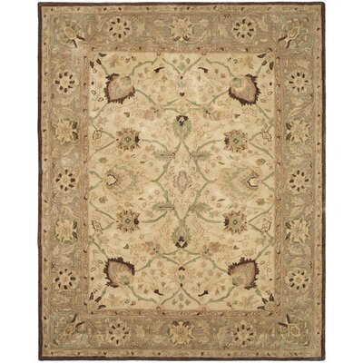 Anatolia Ivory/Brown Area Rug Rug Size: Rectangle 96 x 136