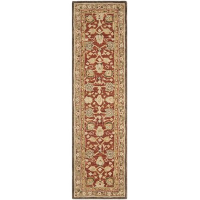 Anatolia Rust/Green Area Rug Rug Size: Runner 2'3