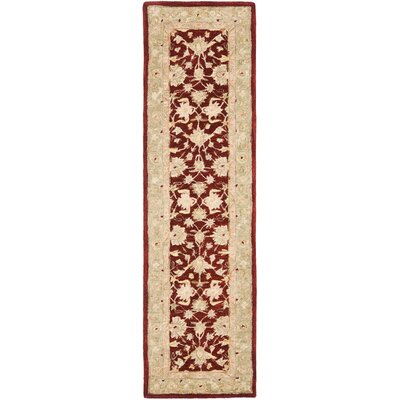 Anatolia Red/Moss Area Rug Rug Size: Runner 23 x 14