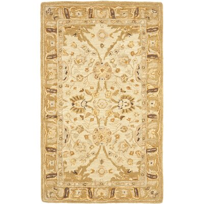 Anatolia Silver/Light Brown Area Rug Rug Size: 3 x 5