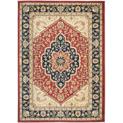 Austin Power Loom Polypropylene Red/Blue Area Rug Rug Size: Rectangle 4 x 57